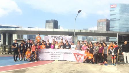 Workout Embassy komunitas olahraga tanpa alat.