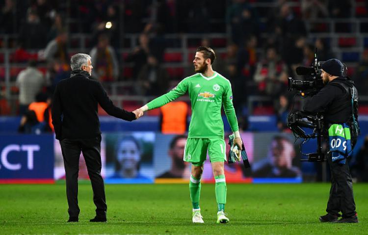 De Gea dan Mourinho Copyright: Getty Images