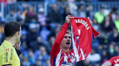 Antonio Griezmann mendedikasikan golnya untuk Nacho Barbera - INDOSPORT