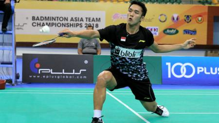 Jonatan Christie di Badminton Asian Team Championships 2018 - INDOSPORT