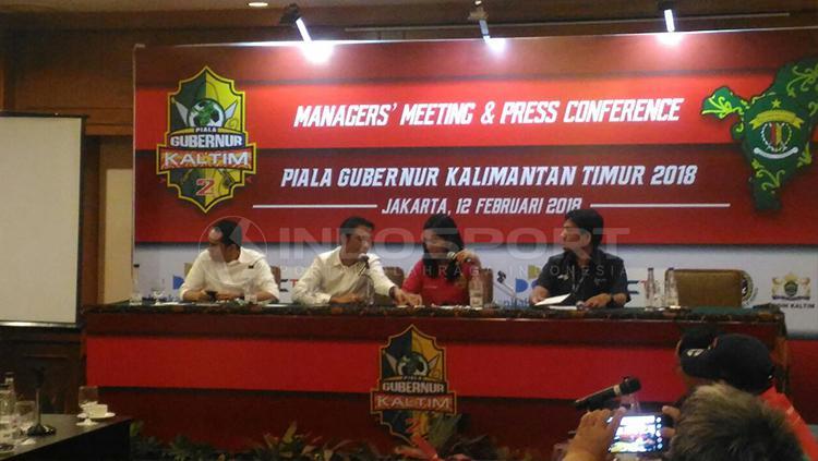 Konferensi Pers Piala Gubernur Kaltim. Copyright: Zainal Hasan/INDOSPORT