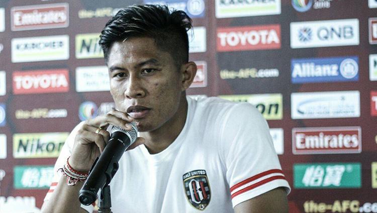 Bek Bali United, Agus Nova Wiantara. Copyright: Bali United