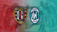Indosport - Bali United vs Yangon United.