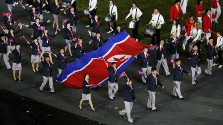 Kontingen atlet Korea Utara - INDOSPORT