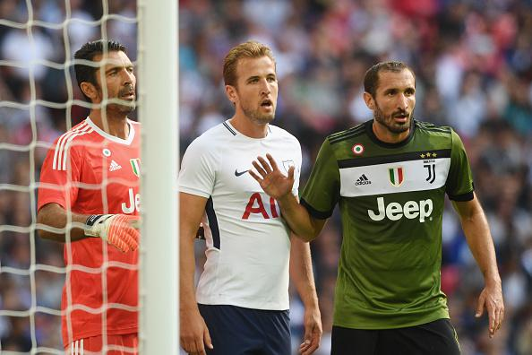 Giorgio Chiellini dan Harry Kane Copyright: Getty Images