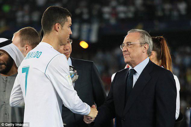 Cristiano Ronaldo dan Florentino Perez. Copyright: Internet