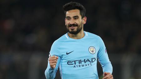 Ilkay Gundogan merayakan gol ke gawang Basel. - INDOSPORT