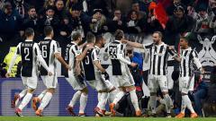 Indosport - Aksi selebrasi para pemain Juventus pada laga saat melawan Tottenham Hotspur.