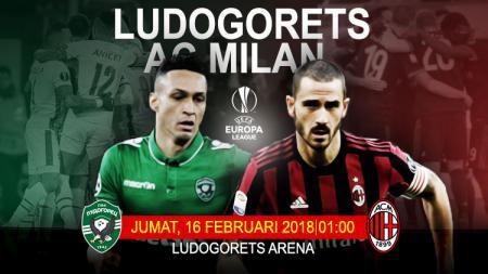 Ludogorets vs AC Milan. - INDOSPORT