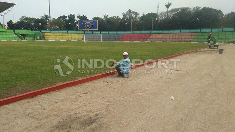 Kondisi terkini Stadion Teladan Medan. Copyright: INDOSPORT/Kesuma Ramadhan