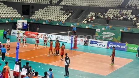 Tim Voli Indonesia saat bertanding di tes Event Asian Games 2018. - INDOSPORT