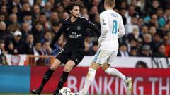 Indosport - Adrien Rabiot saat melawan Real Madrid di babak 16 besar Liga Champions.