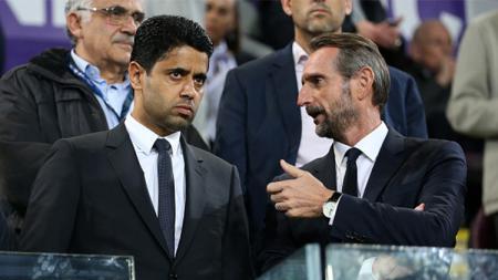 Pemilik PSG Nasser Al Khelaifi (kiri). - INDOSPORT