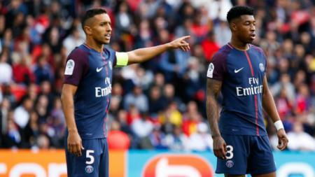 Marquinhos (kanan) dan Kimpembe di Paris Saint-Germain. - INDOSPORT