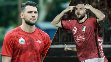 Marko Simic gagal menambah gol di pekan ke-29, disaat Ilija Spasosjevic bisa mendekatkan jarak dalam daftar top skor sementara Liga 1 2019. - INDOSPORT