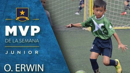 Ocean Erwin, salah satu talenta muda sepakbola asal Indonesia yang tengah belajar di Akademi Marcet yang berada di Spanyol.