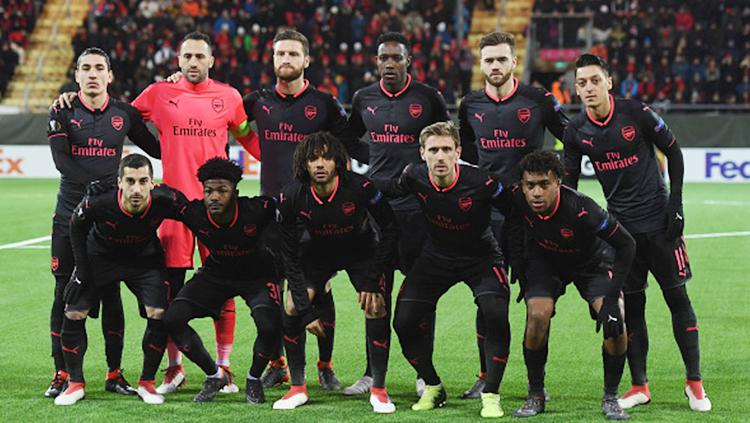 Skuad Arsenal pada laga Ostersunds FK. Copyright: INDOSPORT