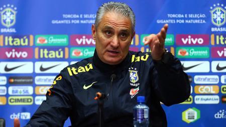 Tite, pelatih Timnas Brasil. - INDOSPORT