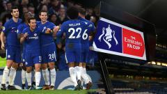 Indosport - Selebrasi para pemain Chelsea.