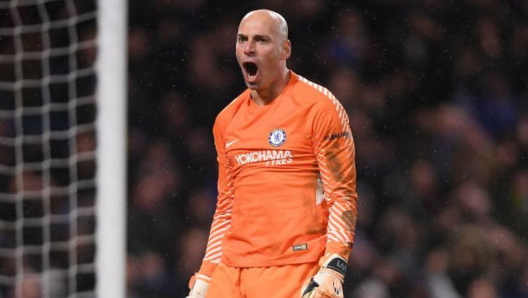Penjaga gawang Chelsea, Willy Caballero Copyright: Getty Images