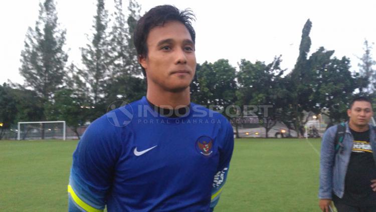 Kiper Borneo FC, Muhammad Ridho. Copyright: Petrus Manus Da Yerimon/Indosport.com