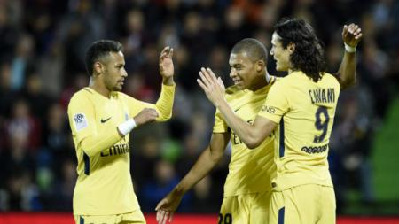 Neymar - Cavani - Mbappe, trio serangan PSG - INDOSPORT