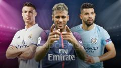 Indosport - Cristiano Ronaldo, Neymar dan Sergio Aguero
