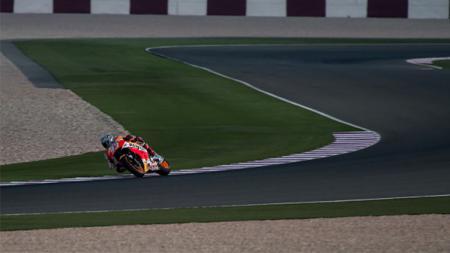 Marc Marquez beraksi di Sirkuit Losail, Qatar - INDOSPORT