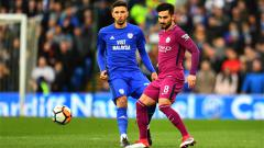 Indosport - Marko Grujic (Cardiff City) dan Ikai Gundogan (Man City)