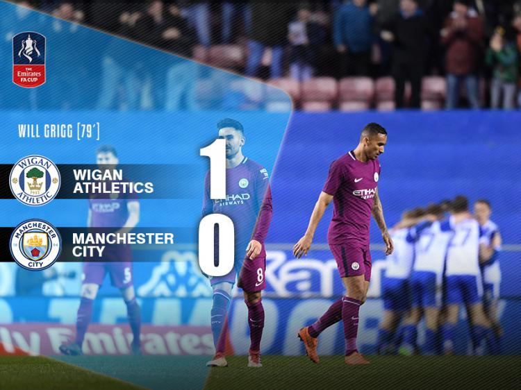 Wigan vs Man City Copyright: Arif Yahya/INDOSPORT