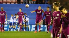 Indosport - Manchester City kalah 1-0 atas Wigan Athletic.