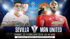 Indosport - Sevilla akan menghadapi Manchester United di babak 16 besar Liga Champions 2017/18.