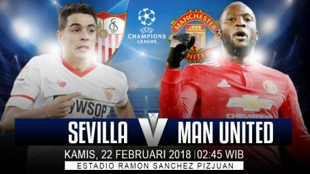 Sevilla akan menghadapi Manchester United di babak 16 besar Liga Champions 2017/18. - INDOSPORT