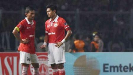 Ismed Sofyan dan Bambang Pamungkas dua pemain sepak bola terlama di Persija Jakarta. - INDOSPORT