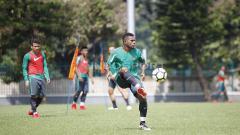 Indosport - Toldo Rivaldo saat latihan bersama Timnas U-19.