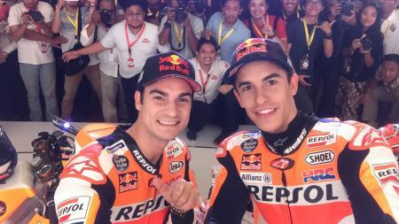 Legenda MotoGP, Dani Pedrosa, ternyata masih punya rekor yang belum mampu dipecahkan pembalap mana pun, termasuk mantan rekannya, Marc Marquez. - INDOSPORT