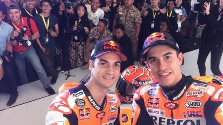 Dani Pedrosa dan Marc Marquez - INDOSPORT