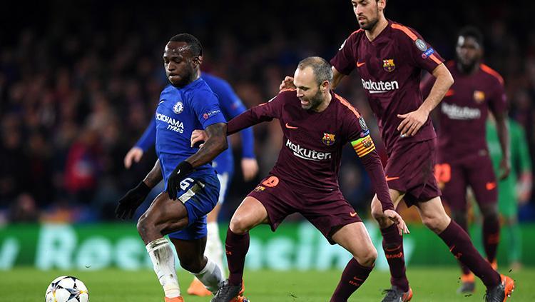 Chelsea vs Barcelona. Copyright: INDOSPORT