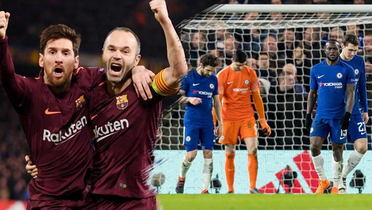 Barcelona berhasil tahan imbang Chelsea dengan skor 1-1. Copyright: INDOSPORT