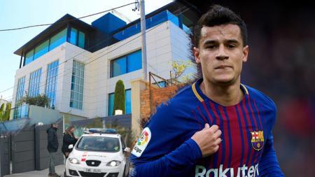 Rumah yang ditempati Philippe Coutinho di Barcelona. - INDOSPORT