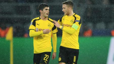 Dua sayap Dortmund, Christian Pulisic dan Marco Reus - INDOSPORT