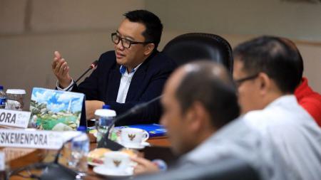 Pertemuan PSSI dan Menpora - INDOSPORT