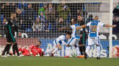 Indosport - Gol pertama Leganes ke gawang Real Madrid.