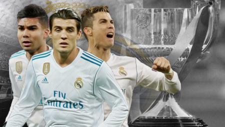 Casemiro, Mateo Kovacic, dan Cristiano Ronaldo. - INDOSPORT
