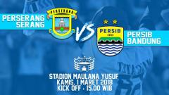 Indosport - Iluatrasi Perserang Serang vs Persib Bandung.