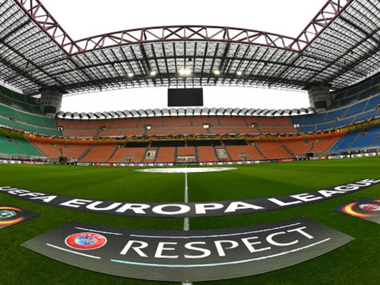 Stadion San Siro saat menggelar Liga Europa. Copyright: Getty Images
