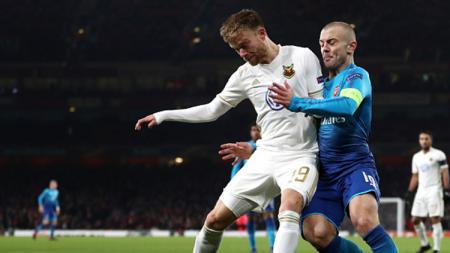 Jack Wilshere dalam Laga Arsenal vs Ostersunds - INDOSPORT