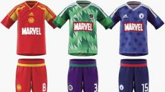 Indosport - Adidas Luncurkan Jersey Marvel.