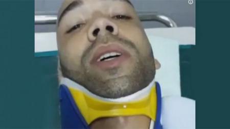 Bruno Silva alami patah leher dan gegar otak. - INDOSPORT