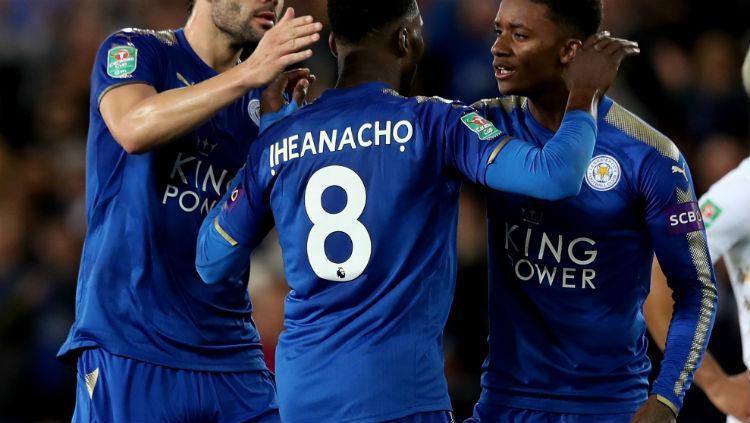 Nama punggung Iheanacho di Leicester City Copyright: INDOSPORT